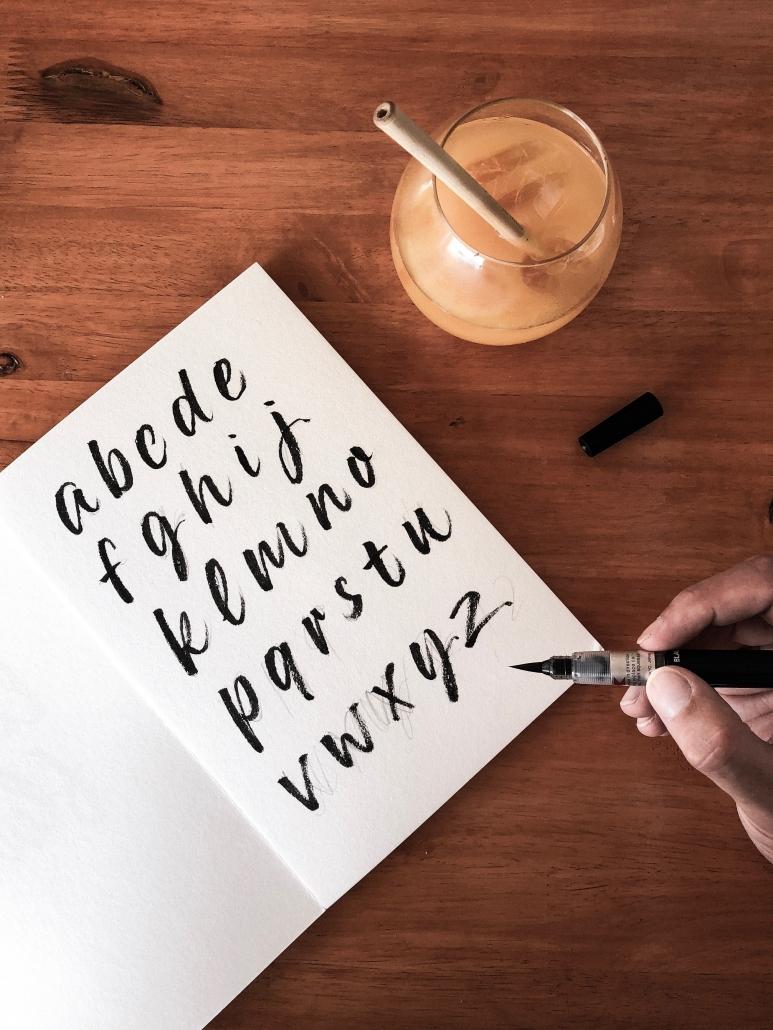 Abecedario caligráfico de Dase