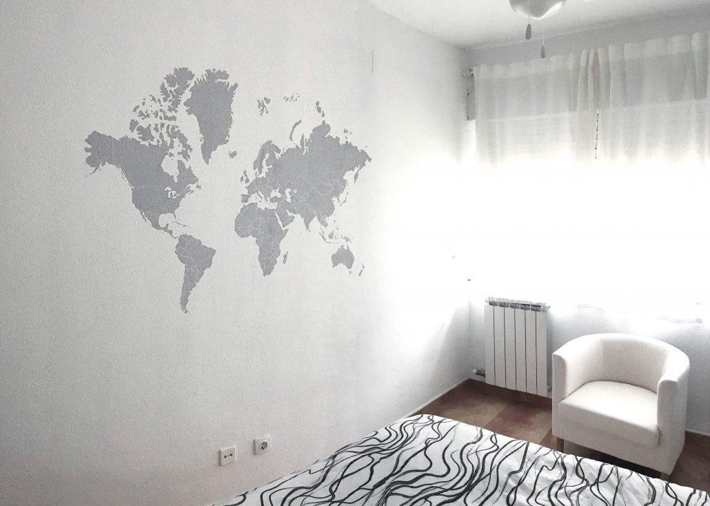 Mural decorativo pintado a mano del mapa del mundo dase - Mapa mundi mural ...