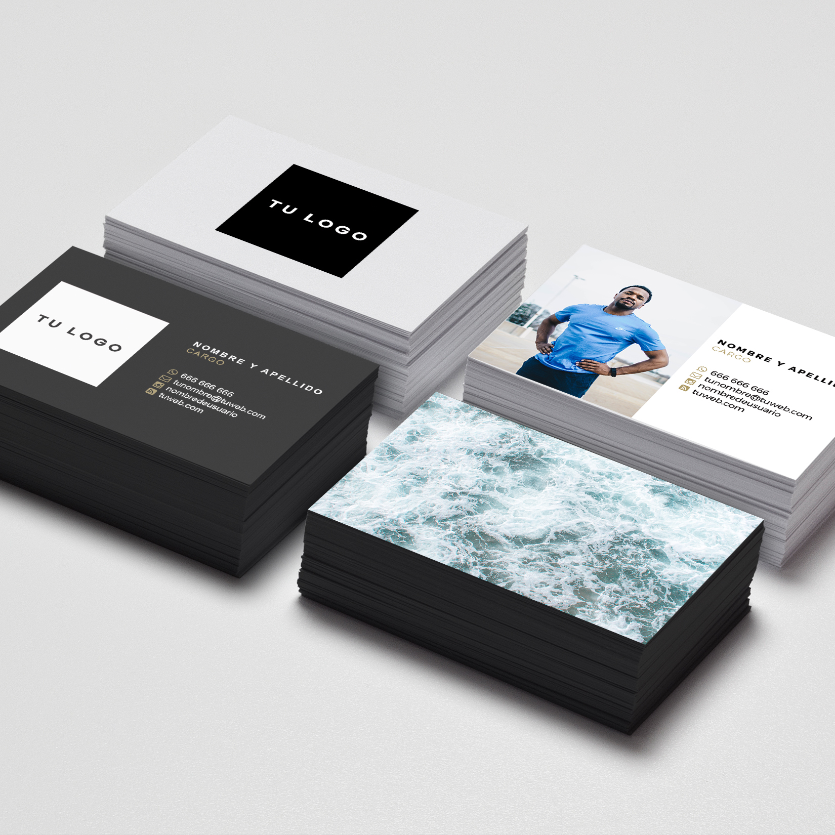 Plantilla de tarjetas de visita para Photoshop (.PSD) - Dase