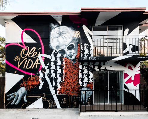 Midtown Senior Care Mural by Dase & Fert Olé la vida Miami