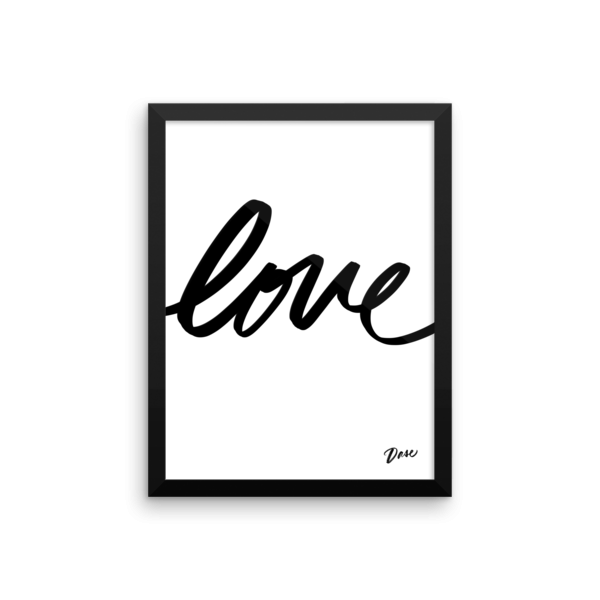 Cuadro Love Caligrafía Letras Dase Decoración