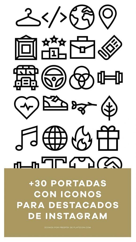 portadas con iconos para historias destacadas de instagram