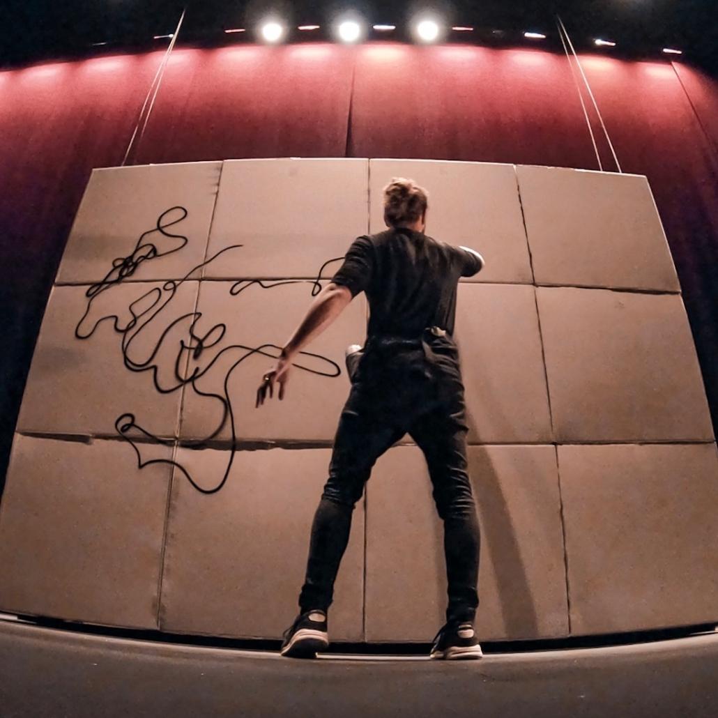Graffiti para eventos Dase Barcelona Mural exhibición pintura directo vivo performance Madrid