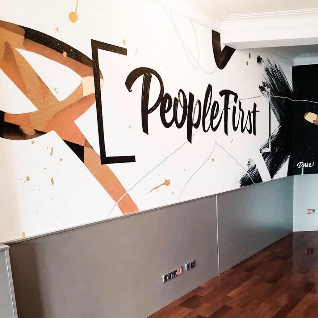 Mural Interior Interiores Decoración Oficinas Madrid