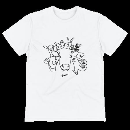 Camiseta Vegana con Dibujo de Animales