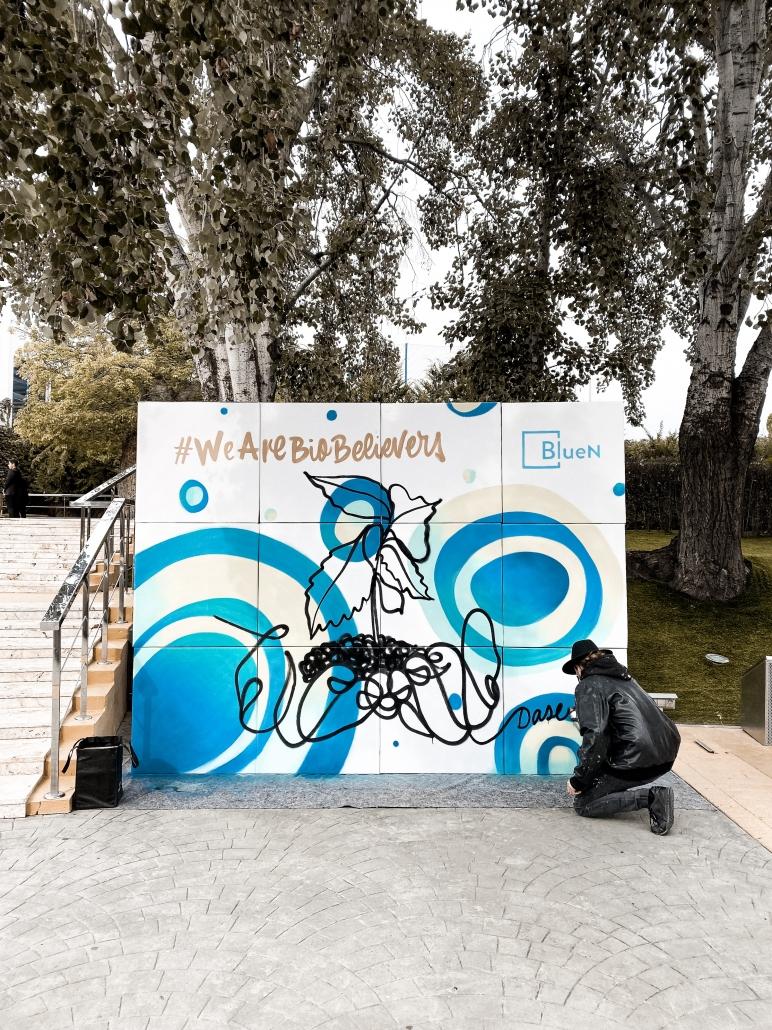 live painting graffiti evento mural directo vivo grafitero muralista dase